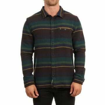 Quiksilver Lineup Distraction Shirt Greener