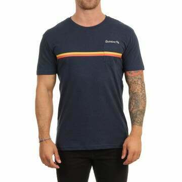 Quiksilver High Piped Tee Navy Blazer