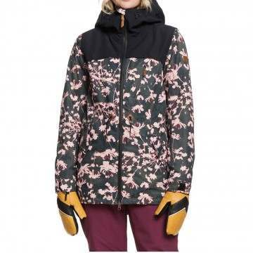Roxy Stated Snow Jacket Black Poppy