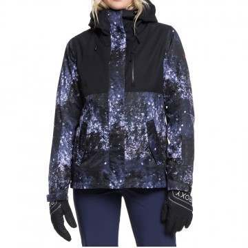 Roxy Jetty 3 in 1 Snow Jacket Blue Sparkles