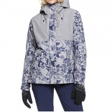 Roxy Jetty 3 in 1 Snow Jacket Grey Flowers