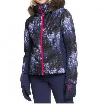 Roxy Snowstorm Plus Snow Jacket Blue Sparkles