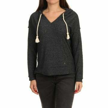 Roxy Lovely Life Hooded Poncho Anthracite