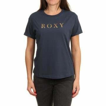 Roxy Epic Afternoon Word Tee Mood Indigo