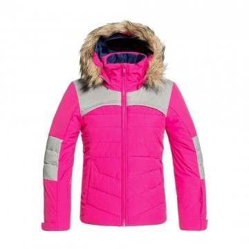 Roxy Girls Bamba Snow Jacket Beetroot Pink