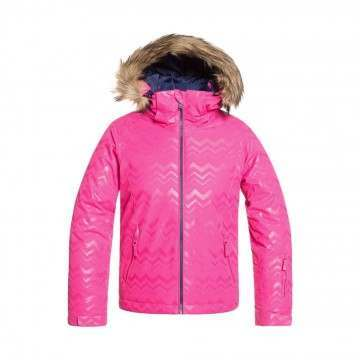 Roxy Girls Jet Ski Solid Snow Jacket Aztec Pink
