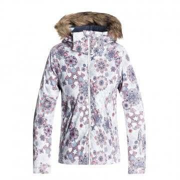 Roxy Girls Jet Ski Snow Jacket White Snowflakes