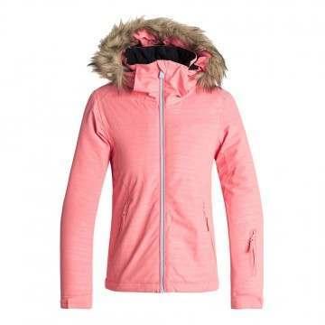 Roxy Girls Jet Ski Embossed Snow Jacket Shell Pink