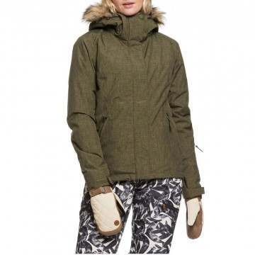 Roxy Jet Ski Solid Snow Jacket Ivy Green