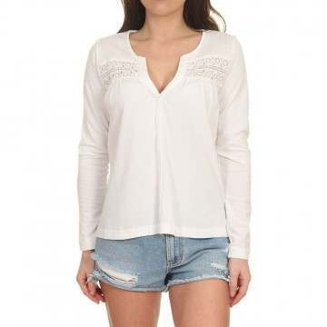 Roxy Follow The Sea Long Sleeve Top Snow White