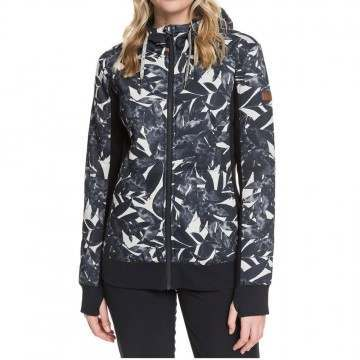 Roxy Frost Printed Sherpa Oyster Gray