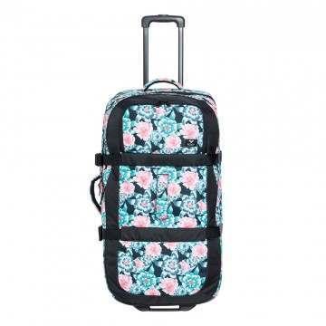 Roxy Long Haul Luggage Crystal Flower