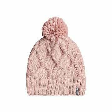 Roxy Winter Beanie Silver Pink