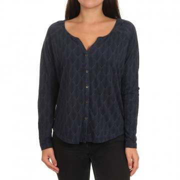 Roxy Free Fallin Long Sleeve Top Mood Indigo