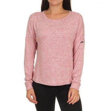 Roxy Holiday Everyday Crew Deep Claret Heather