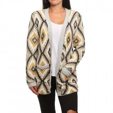 Roxy All Over Again Cardigan Heritage Heather