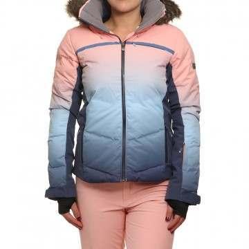 Roxy Snowstorm Printed Snow Jacket Powder Blue