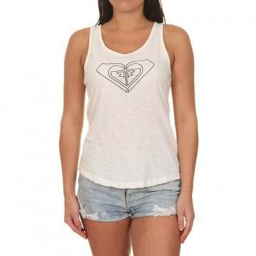 Roxy Red Lines Top Marshmallow