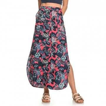 Roxy Sunset Islands Maxi Skirt Red Mahna