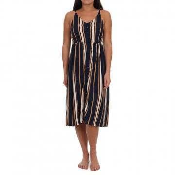 Roxy Sunset Beauty Dress Blue Stripe