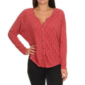 Roxy Free Fallin Long Sleeve Top Deep Claret
