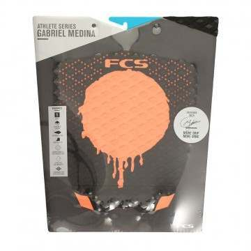 FCS Gabriel Medina Surfboard Deck Pad Black/Orange