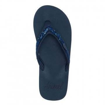 Animal Swish Slim Sandals India Ink Blue