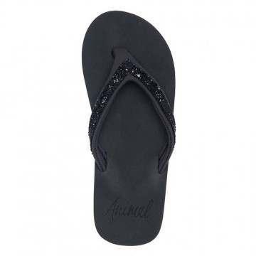 Animal Swish Slim Sandals Raven Black Marl