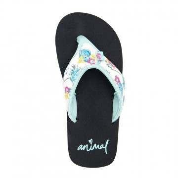 Animal Girls Swish Upper AOP Sandals Black