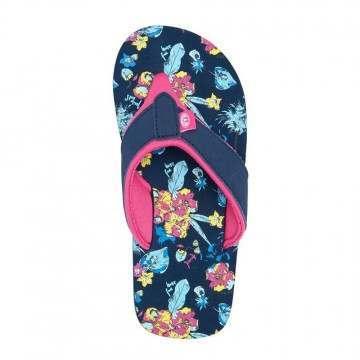 Animal Girls Swish AOP Sandals Indigo Blue
