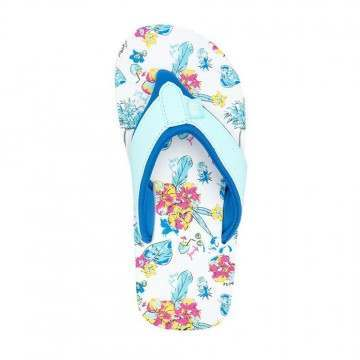 Animal Girls Swish AOP Sandals White