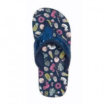 Animal Girls Swish Glitz Sandals Indigo Blue