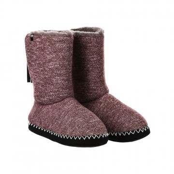 Animal Bollo Slipper Boots Grape Purple