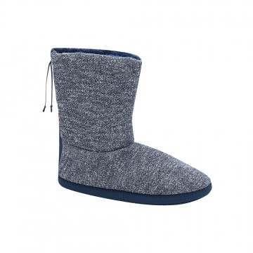 Animal Bollo Slipper Boot Indigo Blue Marl