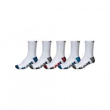 Globe Multi Stripe Crew Socks 5 Pack White