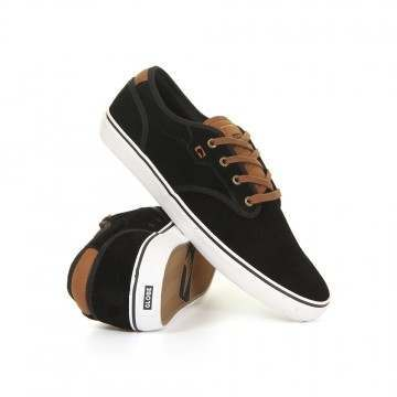 Globe Motley Shoes Black Suede/Toffee