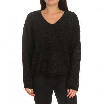 Ripcurl Woven V Neck Sweater Black Marle