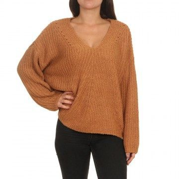 Ripcurl Woven V Neck Jumper Pecan Brown