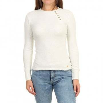 Ripcurl Cosy Long Sleeve Top White Marle