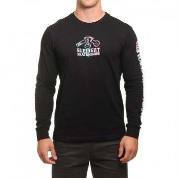 Element Snap TD Long Sleeve Top Black