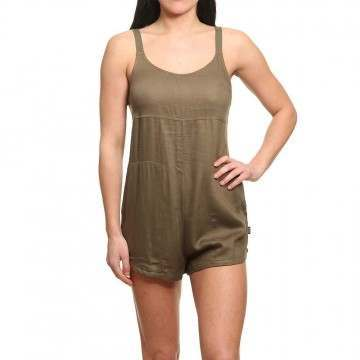 RVCA Jurys Out Romper Burnt Olive
