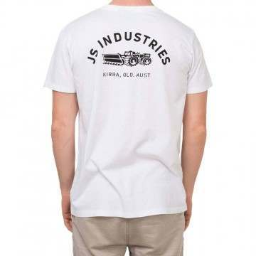 JS Surfboards Factory Tee White