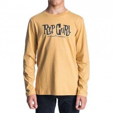 Ripcurl Boys Typo Long Sleeve Top Mustard