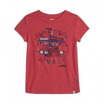 Animal Girls Dreambus Tee Candy Red Marl
