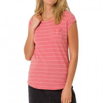 Animal Sea Stripes Tee Faded Rose Pink