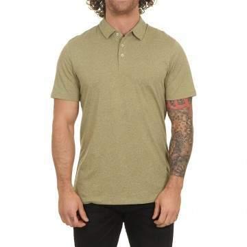 Volcom Wowzer Polo Shirt Mossstone