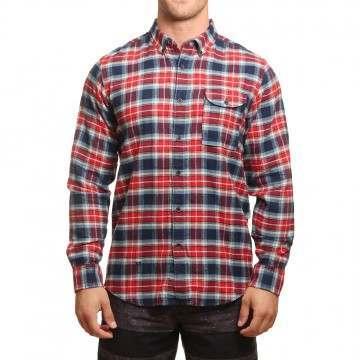 Vissla Central Coast Flannel Shirt Navy