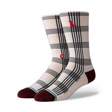 Stance Rat Plaid Socks White
