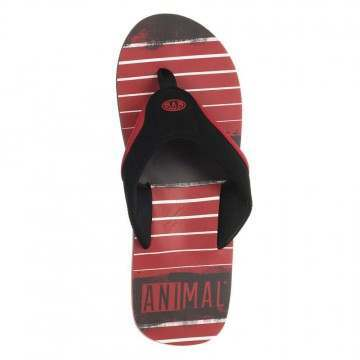 Animal Jekyl Torn Sandals Red