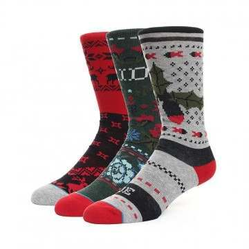 Stance Holiday Pattern Gift Box 3 Pack Socks